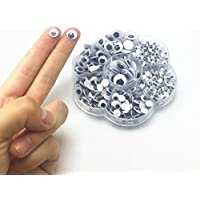 Liebeye ドールアイズ 人形の目 アイズ DIY 黒目 目玉 700個セット DIY用 手芸 パーツ 材料 ハンドメイド 素材 縫製