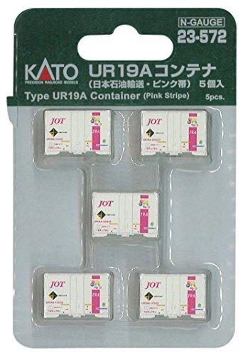 KATO Nゲージ UR19Aコンテナ 日本石油輸送 ・ ピンク帯 5個入 23-572 鉄道模型 貨車