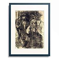 ヴィルヘルム・ライブル Wilhelm Leibl 「The Hunters. Around 1882-1886」 額装アート作品