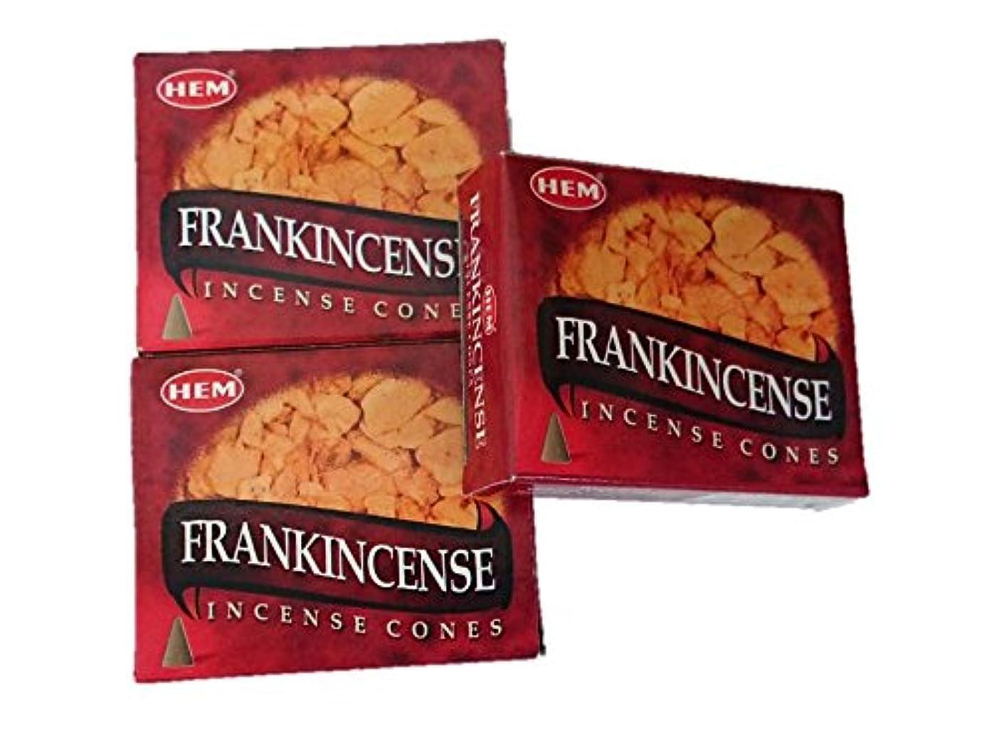 億物思いにふけるダーベビルのテスHEM(ヘム)お香 フランキンセンス コーン 3個セット