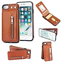 iPhone 6 Plus Flip Cover, Case, Happon Backcover Card Slot [Stand Feature] Leather Wallet Case Vintage Book Style Magnetic Protective Cover Holder for iPhone 6 Plus - Brown
