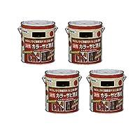 アサヒペン カラーサビ鉄用 1.6L 黒 4缶セット