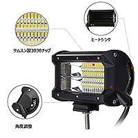 1個 72w led 作業灯 防水タイヤ灯 車幅灯夜釣り 船舶 建築 バックライト デッキライト …