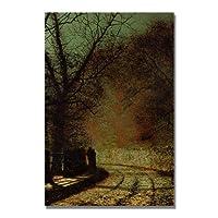 The Lovers by John Grimshaw 30x47-Inch Canvas Wall Art [並行輸入品]