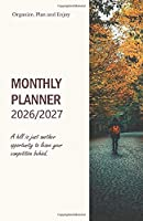 Monthly Planner 2026/2027; A hill is just another opportunity to leave your competition behind.: Academic Diary 2026/2027 Perfect sized Pocket Diary; keep everything in order; Daily, Weekly, Monthly Planner inclusive 4-WEEK-OVERVIEW on 2 pages, handbag Or