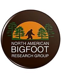 北アメリカビッグフット研究グループピンバックボタンピンバッジ - 1