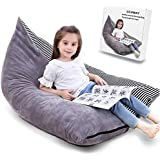 Large Stuffed Animal Storage Bean Bag Chair, Beanbag Cover Lounge Chair Stuffie Seat Sofa