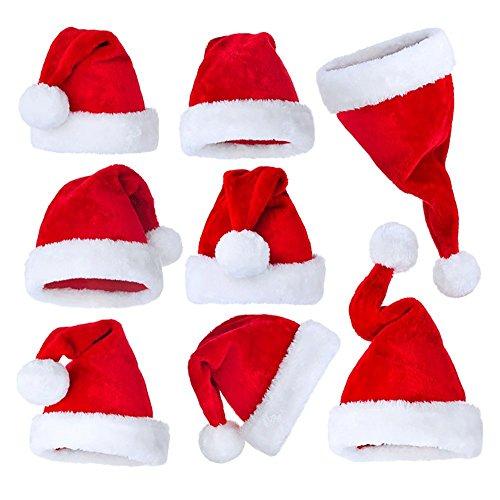 【王者堂】 サンタ帽子 クリスマス パーティー 宴会 舞踏会 コスプレ 大人用 クリスマス サンタ 帽子 ふかふか 男女兼用 赤