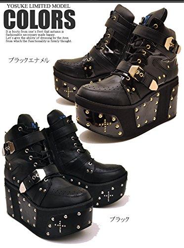 YOSUKE U.S.A ヨースケ 厚底 ブーツ メンズ スニーカーブーツ ショートブーツ 26.5cm ブラック