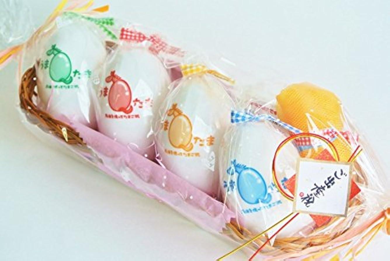 馬鹿げたフォーク小道具Umatama(ウマタマ) 馬油石鹸うまたま 4種類の詰め合わせギフトセット!出産祝い?内祝い?結婚祝い?誕生日祝いにおススメです!