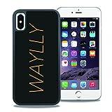 【WAYLLY】iPhone X ケース, [どこでもくっつくケース] [Qi充電対応] [米軍MIL衝撃吸収規格] ウェイリー アイフォン X用 耐衝撃 カバー [iPhone X](LOGO ORANGE)