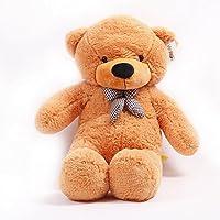 YunNasi クマぬいぐるみ ふわふわソフト とても可愛いおもちゃ 子供?彼女へのギフト (100cm, ライトブラウン)