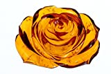 透明感抜群 彫綺麗 琥珀薔薇彫り7.7gルースno6
