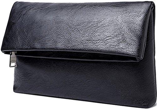 (リブラ) Libra クラッチバッグ レザー 二つ折り 2サイズ (黒色)