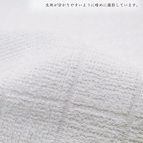 116980d5c6182f ... おしぼり 格子柄タオル 業務用 10枚入り 綿100% ホワイト 28×28cm ...