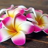 バリ アジアン雑貨 造花 バリウッド:プルメリアのかわいい造花5つセット!ピンクホワイトの小さいサイズ