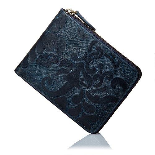 Anna rita 財布 イタリア製の美しい型押し財布 本革 ラウンドファスナー メンズ