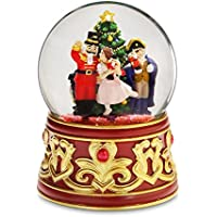 Nutcracker with JeweledベースWater Globe by the San Francisco Music Box Company