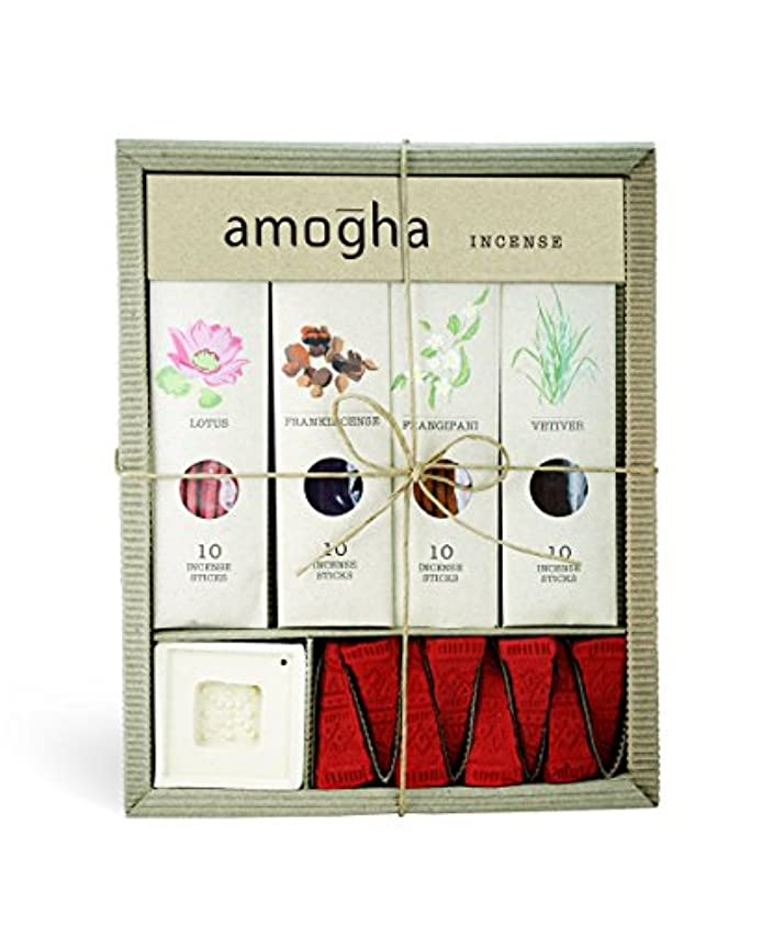 酔う許容爬虫類Iris Amogha Incense with 10 Sticks - Lotus, Frankincense, Frangipani & Vetiver Gift Set