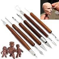 greatfun 6pcs DIYクレイスカルプティングセットワックス彫刻陶器ツールShapersポリマーモデリングツールセット