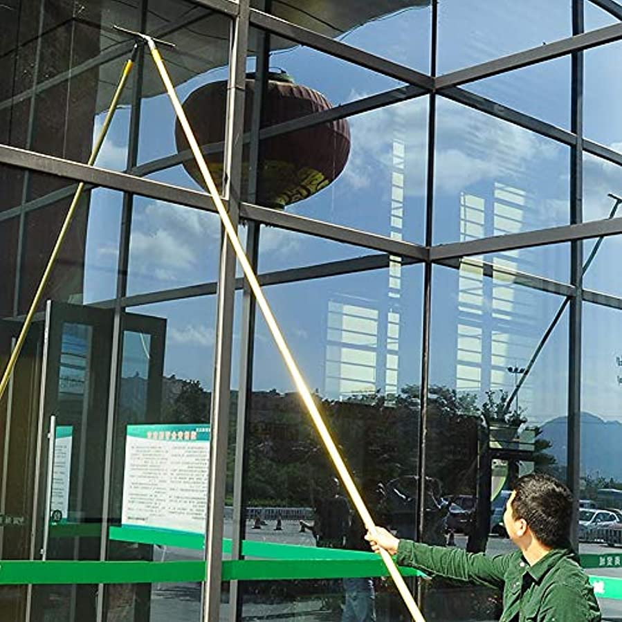 殺します野な抗議伸縮ウィンドウクリーナーバースクレーパー、高層ガラス太陽電池パネルのクリーニングツール、頑丈な、トラックのガラスクリーニング,9.5m