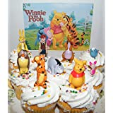 Disney Winnie the Pooh Deluxe Mini Cake Toppers Cupcake Decorations Set of 9 Figures with the Pooh Tigger Owl Chistopher Robin and More!
