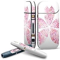 IQOS 2.4 plus 専用スキンシール COMPLETE アイコス 全面セット サイド ボタン デコ ラブリー フラワー 桜 白 ピンク 005304