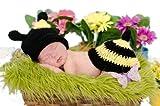 C-Princess 可愛い動物アニマルデザイン ベビー・赤ちゃん写真の服 撮影 ベビー服 帽子ハット 蜜蜂ちゃんキャラクター変身なり 新生児3-6ヶ月に