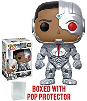 Funko POP Movies: DC Justice League - Cyborg 209 Vinyl Figure (Bundled with Pop BOX PROTECTOR CASE)
