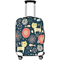 Dreaweet Colorful Building Printed Luggage Covers Travel Luggage Cover Spandex Travel Luggage Cover Suitcase Protector Fits 18''-32'' inch Luggage case