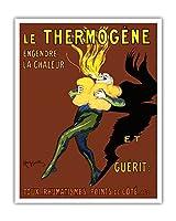 Thermog?ne - 熱と治療を生み出す:咳、リウマチ、側痛 - ビンテージな広告ポスター によって作成された リオネト・カピエロ c.1909 - アートポスター - 41cm x 51cm