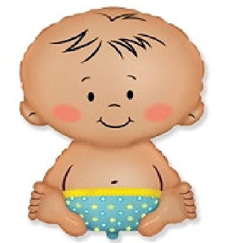 Baby Boy形状Gender RevealおむつWelcomeベビーシャワー24