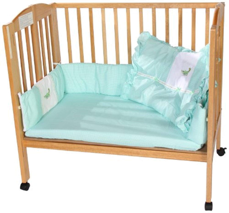 Baby Doll Bedding Gingham Applique Cradle Bedding Set, Alligator by BabyDoll Bedding