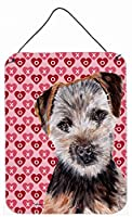 "Caroline 's Treasures Norfolk Terrier Puppy Hearts and Love壁またはドア吊り下げPrints、16 "" x 12 """