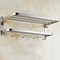 シェルフシャワーラックタオルラックタオルラックタオルバーダブルHanging浴室ラック浴室ステンレススチールペンダント50 cm 60 cm 60cm