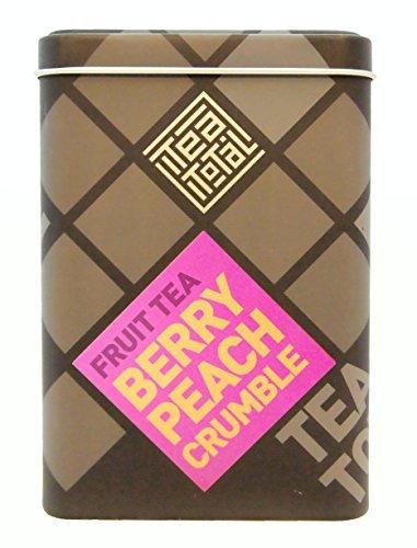 Total Tea total ティートータル ベリー ピーチ クランブル 100g入り缶タイプ ニュージーランド産 フルーツティー フレーバーティー ノンカフェイン ドライフルーツ
