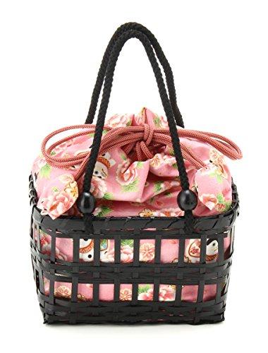 (ハニーズ コルザ) Honeys COLZA 角型カゴ(黒) 228121601895 ピンク