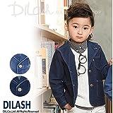 (ディラッシュ) DILASHニットデニムジャケット/春 140 ブルー