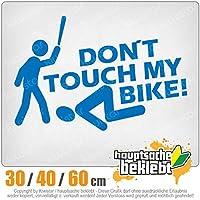 KIWISTAR - Do not touch my bike! 15色 - ネオン+クロム! ステッカービニールオートバイ