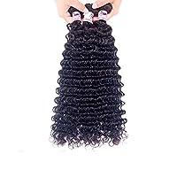 本当に髪のカーテンは滑らかな髪をカール9A人間の髪の深いウェーブのレースの髪はリアルなウィッグの頭をピックアップ自然な色の春のファットクロージャーはホット染料10Sizeすることができます (Color : Black, Size : 18)