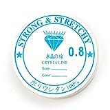 [ ハッピーボム ] Happy Bomb ブレスレット シリコンゴム 無色 太さ 0.5mm 0.6mm 0.7mm 0.8mm 1mm 【0.8mm】 修理 作成 ウレタン LE329SG1404A