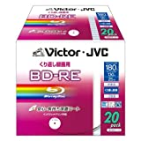 ビクター 映像用ブルーレイディスク くり返し録画用 25GB 2倍速 保護コート(ハードコート) ワイドホワイトプリンタブル 20枚 BV-E130KW20
