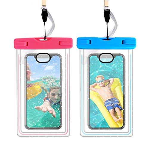 ELOKI [2本セット] 防水ケース iPhoneとAndroid 6.5インチまで全機種対応 IPX8認定 高感度PVCタッチスクリーン