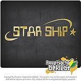 スターシップ Star Ship 20cm x 6cm 15色 - ネオン+クロム! ステッカービニールオートバイ