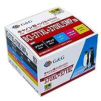【ネット限定】 G&G インクカートリッジ <Canon(キヤノン) BCI-370XL+371XL/5MP互換 5色セット 大容量 インク残量検知対応> C370XL/371XL-5P 互換インクカートリッジ [PIXUS TS9030/TS8030/TS6030/TS5030/MG7730F/MG7730/MG6930/MG5730対応]【国際規格ISO9001品質】