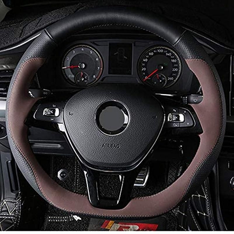 指定楽な有利KHnasd 手縫いの革の車のステアリングホイールカバー、  フォルクスワーゲンVNゴルフ7 Mk7の新しいポロジェッタパサートB8