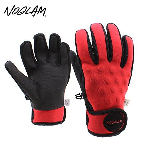 (ノーグラム)NOGLAM 2015年モデルnog-138 グローブ THE MIXX FIVE FINGER/RED/BLACK 日本正規品 S