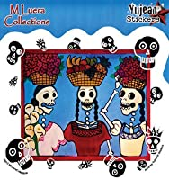 "MaryAnn Luera, Fabulous Market Ladies Day Of Dead, 4.5"" x 4"" - Weather/UV Res"