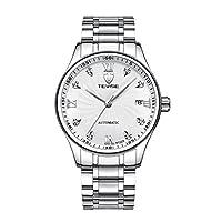 ウォッチ 腕時計 メンズ ビジネス 男性用 ステンレスバンド 自動機械式 全5タイプ - タイプ1