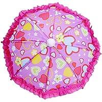 Baosity 玩具傘 傘 アクセサリー  18インチドール用 人形用 かわいい 写真小物 3種類選べる - ハート型